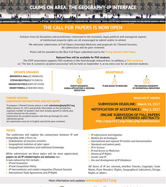 design graphique call for papers epip2017