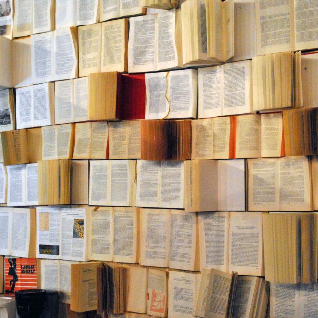 Mur de livres pour Les Foulées 2016 Lormont