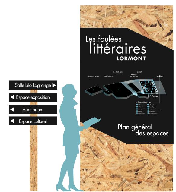 carte et signalétique pensée pour Les Foulées 2016 Lormont