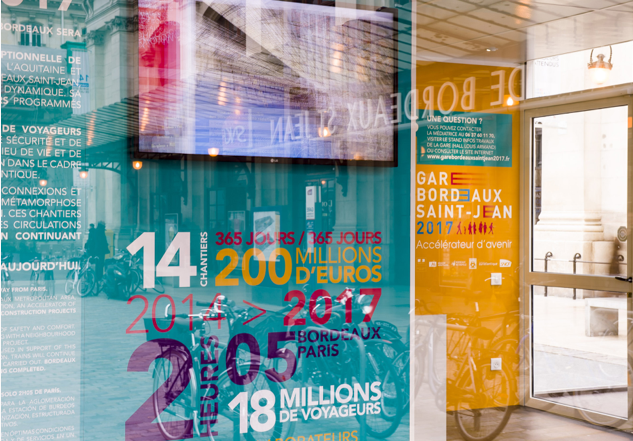 Graphisme Maison du projet RFF Bordeaux