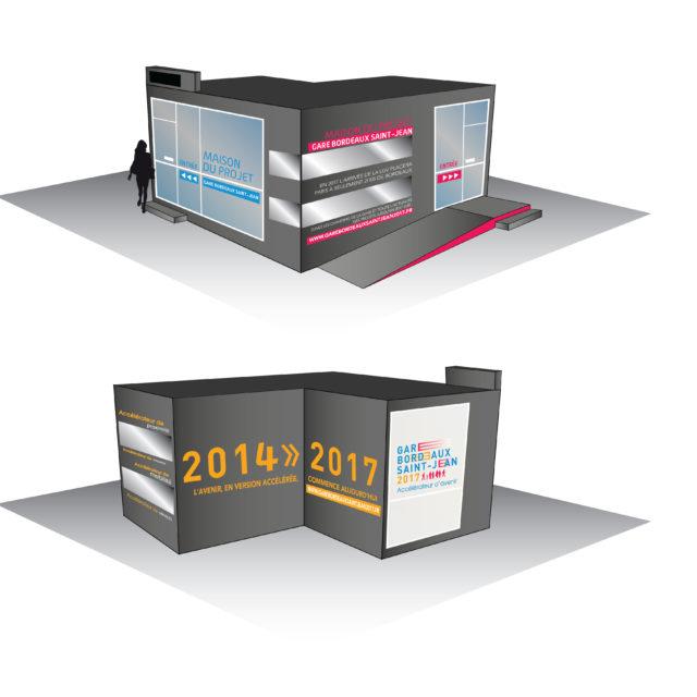 Visuels concept Maison du projet RFF Bordeaux