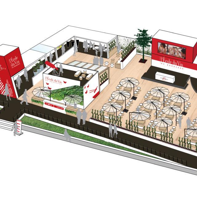 3D pavillon EDV pour la Fête du Vin 2016