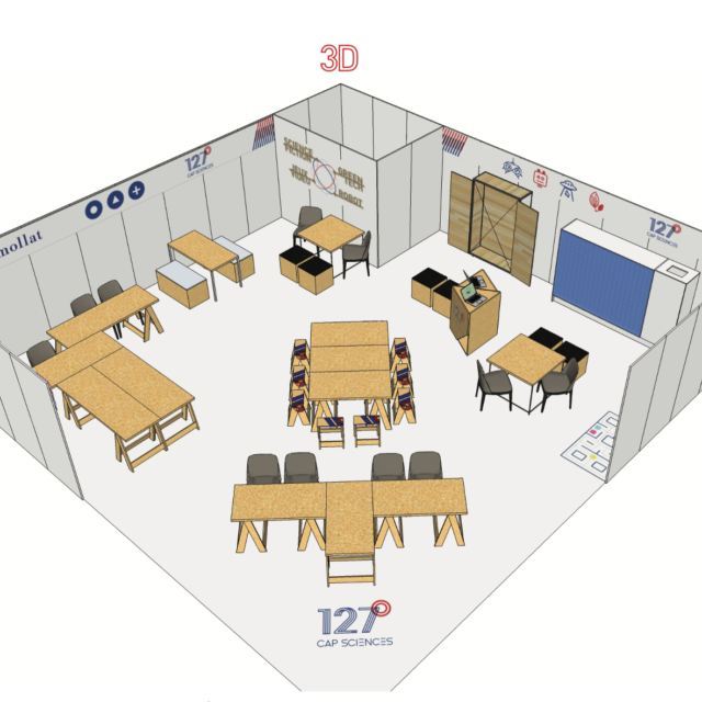 3D aménagement stand Fablab 127