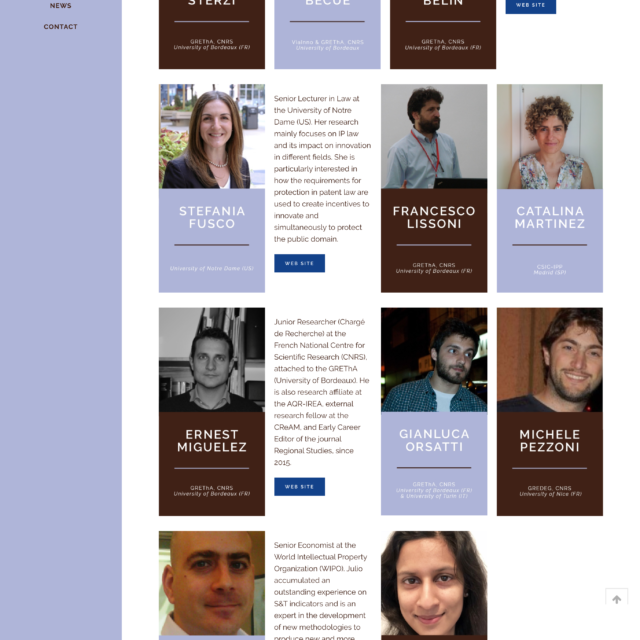 page team du site web NPEIE