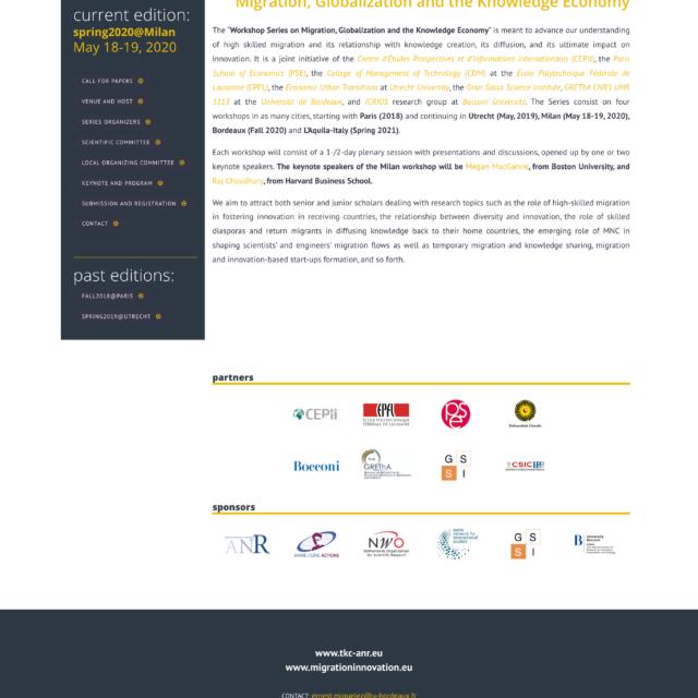 page workshop du site web TKC-ANR