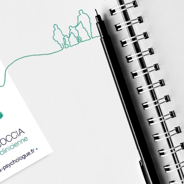 design graphique carte visite Martina Coccia
