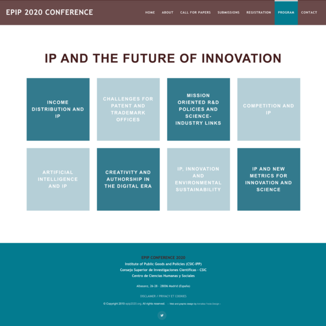 page themes du site web epip2020