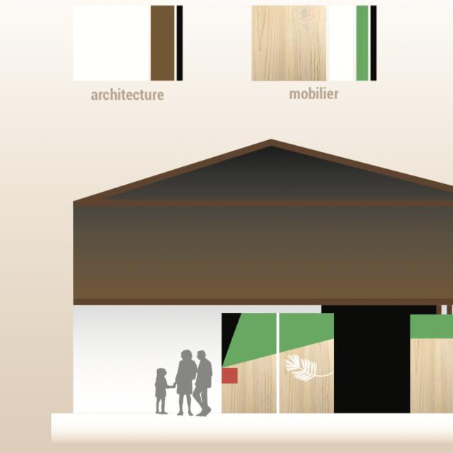 Planche matériaux scénographie musée Graine de Forêt