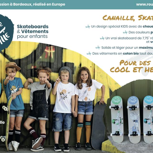 design graphique flyer Roule Canaille