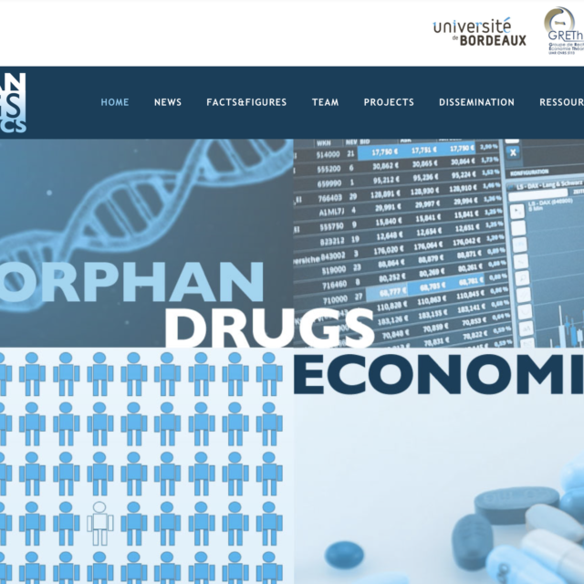 orphan drugs economics conception site internet